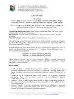 Zapisnik s 12. sjednice - JU Zeleni prsten Zagrebačke županije