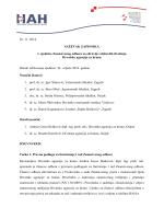 Sažetak zapisnika s 1. sjednice ZO za zdravlje i dobrobit životinja