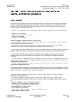 Troškovnik građevinsko-obrtničkih i instalaterskih radova