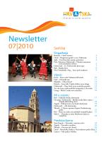 Newsletter - Hrvatska turistička zajednica