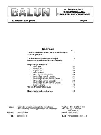 - Balun 18.pdf - Nogometni savez Županije splitsko