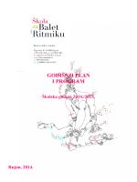 OSNOVNA ŠKOLA ZA BALET - Škola za balet i ritmiku