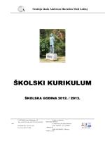 Školski kurikulum 2012-2013 - Srednja škola Ambroza Haračića