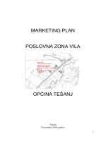 marketing plan poslovna zona vila općina tešanj