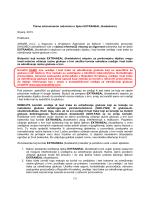 [1] Pismo zdravstvenim radnicima o lijeku EXTRANEAL (ikodekstrin