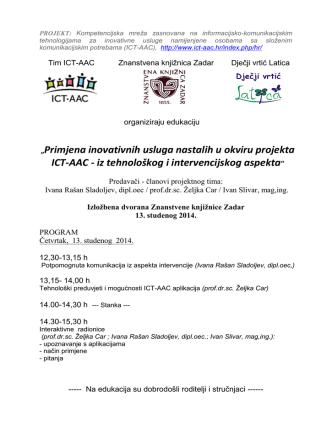 13. studenog 2014, ICT-AAC