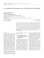 Nove analitičke instrumentalne metode u restauraciji i konzervaciji