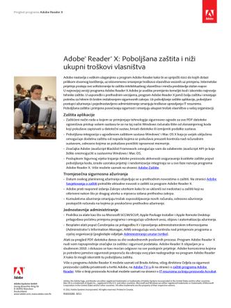 Adobe® Reader® X: Poboljšana zaštita i niži ukupni troškovi