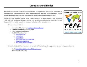 Croatia School Finder