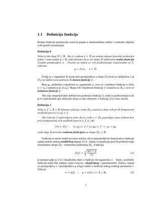 1.1 Definicija funkcije