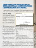 tankoslojne nadgradnje zagla\ivanje, izravnavanje i niveliranje povr