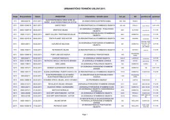2. Urbanističko tehnički uslovi - 2011. godina