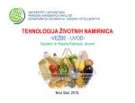 tehnologija životnih namirnica tehnologija životnih namirnica