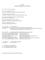 Kalendar događanja u Lovranu 2014
