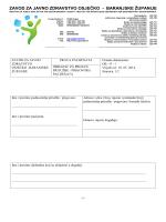 Obrazac za pritužbu - Zavod za javno zdravstvo Osječko