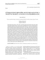 učinkovitost biološki aktivnih sastavnica matične