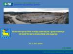 Rudarsko-geološka studija potencijala i gospodarenja mineralnim