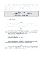 Na temelju Zakona o udrugama (N - Športska zajednica Grada Zadra