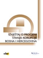 izvještaj o procjeni stanja korupcije bosna i hercegovina