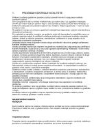 Opæi uvjeti - program kontrole kvalitete