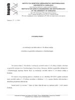 INTERNI POZIV - za realizaciju završnih radova I i II ciklusa