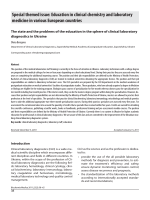 The state and the problems of the education in the sphere of clinical