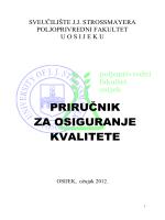 priručnik - Poljoprivredni fakultet u Osijeku