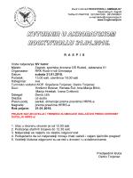 R  A  SP  I  S Vrsta natjecanja: KV turnir Mjesto: Zagreb