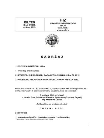 Bilten 2013 - Hrvatski informatički zbor
