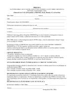 Prijava za županijsku ligu
