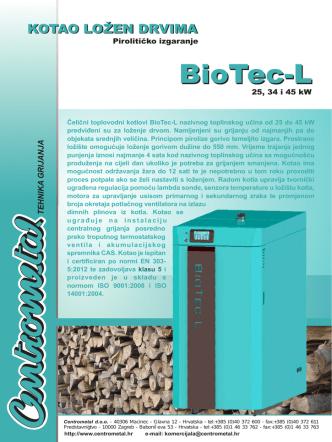 Centrometal BioTec-L - letak