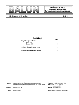 - Balun 15.pdf - Nogometni savez Županije splitsko
