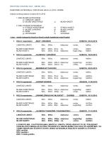 HALS – Raspored disciplina za 2015
