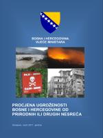 procjena ugroženosti bosne i hercegovineod prirodnih ili drugih