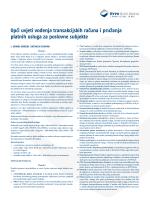 Opći uvjeti vođenja transakcijskih računa i pružanja platnih usluga