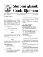 Službeni glasnik Grada Bjelovara br. 8/2013