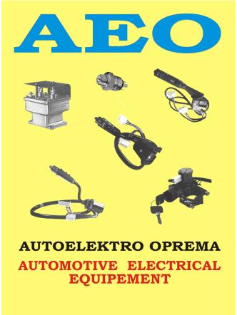 autoelektro oprema automotive electrical equipement