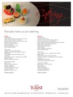 Ponuda menu-a za catering