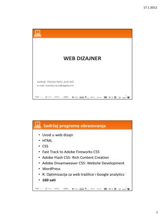 01. Uvod u Web dizajn