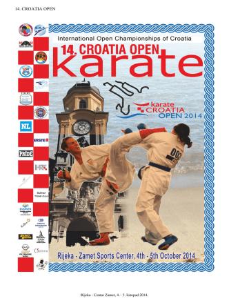 14. CROATIA OPEN - Karate zveza Slovenije
