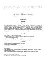Statut HMD-a - Hrvatsko muzejsko društvo