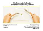 Maslinovo ulje i zdravlje - Maslinarski Institut Zagreb