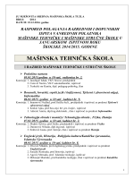 JU MJEŠOVITA SREDNJA MAŠINSKA ŠKOLA TUZLA