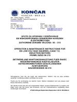 Upute za uporabu i održavanje EN/IEC