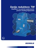 Serija TW- jednostupanjski reduktor – Dimenzije