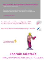 Zbornik sažetaka - hrvatski institut za duhovnu psihijatriju