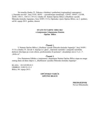 Akti sa 2. sjednice Općinskog Vijeća