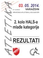rezultati 2. kola HALS-a za mlađe kategorije