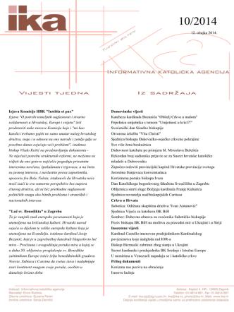 12. ožujka 2014. Izjava Komisije HBK