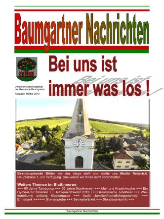 #Baumgartner Nachrichten Herbst 2013 HP